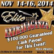Elite November Barrel Race 2014