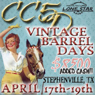 Upcoming Barrel Race at Lone Star Arena